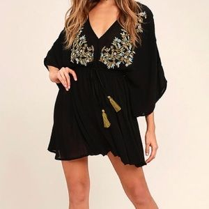 Black embroidered dress from LULUS